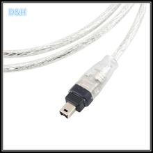 NEW USB Male to Firewire IEEE 1394 4 Pin Male iLink Adapter Cord firewire 1394 Cable for SONY DCR-TRV75E DV camera cable