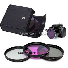 Free Ship New Arrival 3 x 58mm 58 mm UV CPL FLD Filter For Canon Nikon Olympus Pentax SLR Camera Lenses Camcorder 18-55mm Lens(China)