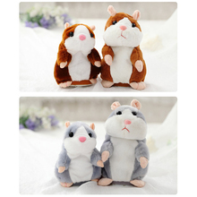 Genuine Talking Hamster Mouse Pet Plush Toy Cute Speak Talking Sound Record Hamster Educational Toy for Kid Gift Free Shipping(China)
