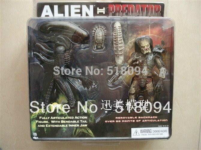 Free Shipping NECA Alien VS Predator Tru Exclusive 2-PACK PVC Action Figure Toy MVFG036<br>