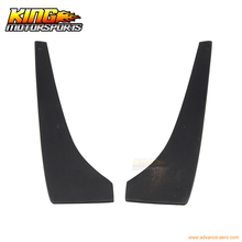 For 2010-2012 Ford Mustang V6 Rear Bumper Lip Aprons 2PC Unpainted - PU Poly Urethane