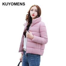 KUYOMENS 2017 Short Slim Parka Winter Jacket Women Clothing Warm Jackets Cotton Parkas For Women Winter Jacket Coat Female(China)