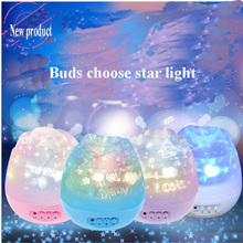 LEDGOO New Projector Led Rotating Light Stars Rotation Night Light Colorful Roses Romantic Projector Light Kid Bedsides Led Lamp