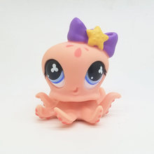 Original 1pc LPS cute toys Lovely Pet shop animal Lovely Pink Octopus Girl action figure littlest doll