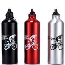 750ML Portable My Water Bottle Sports Aluminum Alloy Water Bottles Hiking Travel Bicycle Drink bottle Outdoor(China)