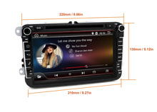 Free shipping VW Passat Car DVD 2 din for Golf Jetta Tiguan Touran and Skoda wifi auto radio Android GPS Navi Quad Core