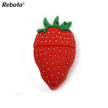 The cute Strawberry usb 2.0 usb flash drive 8gb 16gb 32 gb pen drive memory stick pendrive u disk(China)