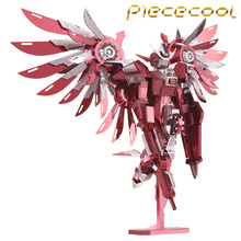2016 Limited Edition Piececool 3D Metal Puzzle Thundering Wings Gundam Robot P069-RS DIY 3D Laser Cut Models Jigsaw Toys