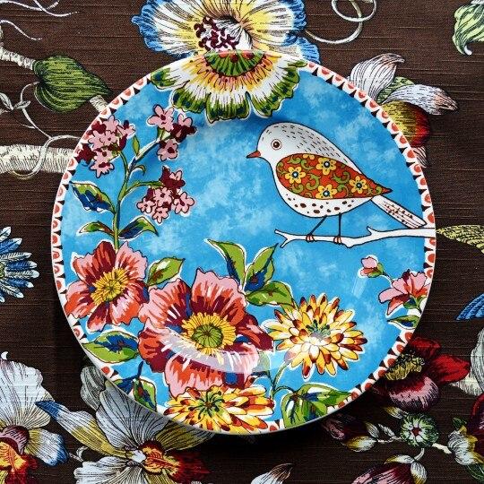 Nordic Village ceramic tableware Flowers decorativ...