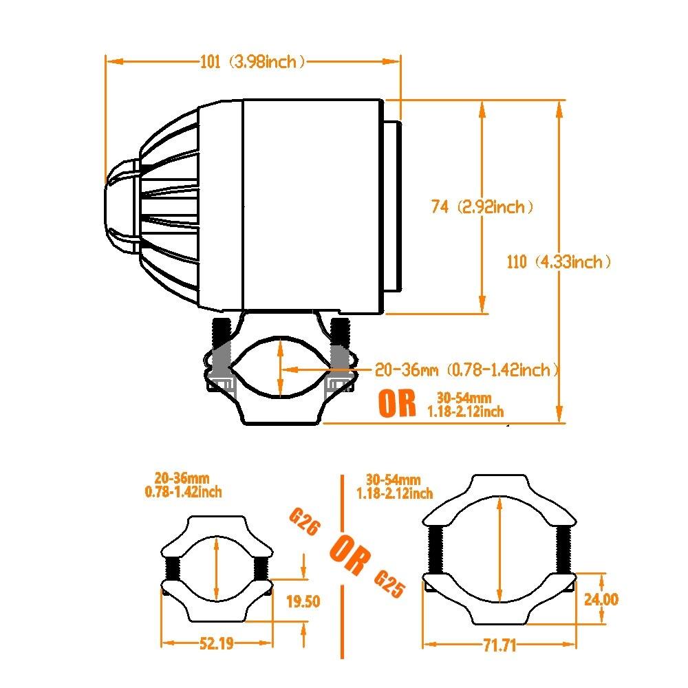 38 M211 motorcycle led headlight