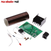 Mini DIY Tesla Coil Kit Arc Wireless Electric Power Transmission Lighting Board Module 12V DC for LED Circuits Suites Learning