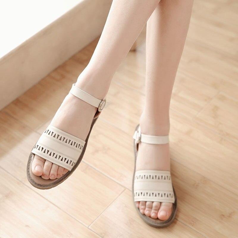 Women shoes sandals comfort sandals women Summer Classic fretwork 2016 fashion Summer high quality flat sandals size 34-43 AA446<br><br>Aliexpress