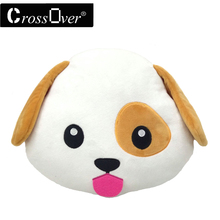 Christmas decoration New Dog Puppy cojines Emoji Pillow Emoticon Cushion coussin almofada Plush Soft Toy Doll Smiley face pillow(China)
