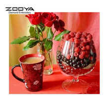 DIY 5D Diamond Painting Crystal Diamond Painting Cross Stitch Rose &Coffee Needlework Diamond Embroidery Home Decorative BJ630