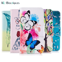 "Buy Leather Case Coque LG K8 2017 Phone Cases LG K 8 2017 5.0"" Colorful Butterfly Flower Flip Stand Wallet Cover Card Holder for $3.45 in AliExpress store"