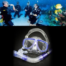 Professional Waterproof Full Dry Design Diving Mask Snorkel Anti-Fog Children Kids Silicone Swimming Equipments New Style