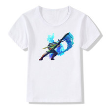 Boy and Girl Print The Legend of ZELDA triforce logo Fashion T-shirt Children Anime Summer Tshirts Kids Tops Tee Baby Clothes
