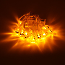 DELICORE Fashion Holiday Lighting 10 LED Novelty Pumpkin String Lights Wedding Garden Party Valentine's Day Decora S063
