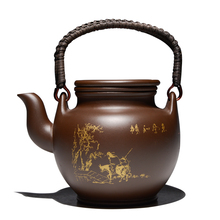 New Chinese Tea Pot With Filter Kung Fu Kettle Tetera Con Filtro Zisha Large Capacity Drinkware Handle Purple Clay