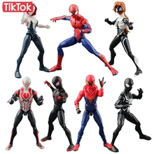 Movie SpiderMan Homecoming Gwen Stacy Spider Woman Spider Man 2099 Cartoon Toy Action Figure Model Doll Gift
