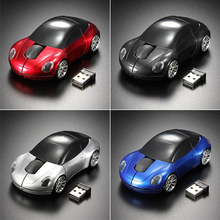 2015 Hot Racing Car Shaped 2.4GHZ Wireless Optical Mouse/Mice USB 2.0 For PC Laptop  639C