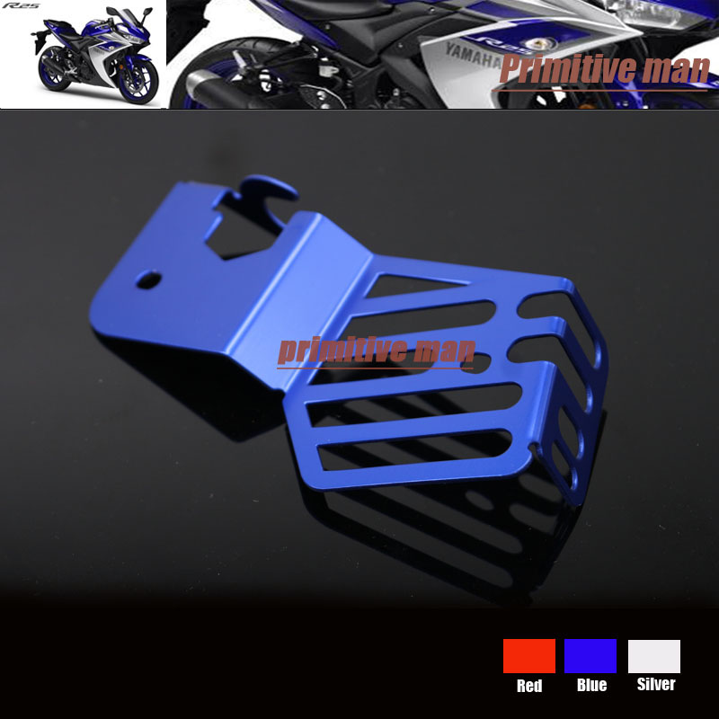 For YAMAHA YZF R3 YZFR3 YZF-R3 YZFR25 YZF-R25 YZF R25 2014-2015 Motorcycle Coolant Recovery Tank Shielding Protector Cover Blue<br><br>Aliexpress