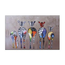 Posters And Prints Wall Art Canvas Painting Zebras Pattern Wall Pictures For Living Room Home Decoration(China)