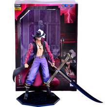 Free Shipping One Piece Action Figure PVC Toy for Children Mihawk POPDX 26cm in gift box(China)