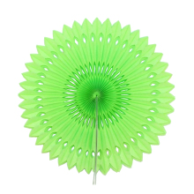 "6pcs 12""(30cm)Apple Green Paper Folding Fan Paper Crafts For Wedding Decoration Store Decoration Exhibition Decoration DIY(China)"