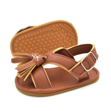 2017 Summer Kids Toddler Baby Sandals Skidproof Child Casual Leather Shoes Tassels Kids Sneakers High Quality for 0-18M