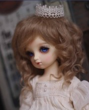 JD012 1/6 Lovely Mohair Wigs Baby wave wig doll wig size 6-7 inch Lati yellow BJD doll wigs