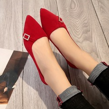 Women Flats Shoes 2018 Spring Autumn Pointed Toe Ballet Crystal Woman Flat Slip Flat Shoes Black Ladies Shoes zapatos mujer