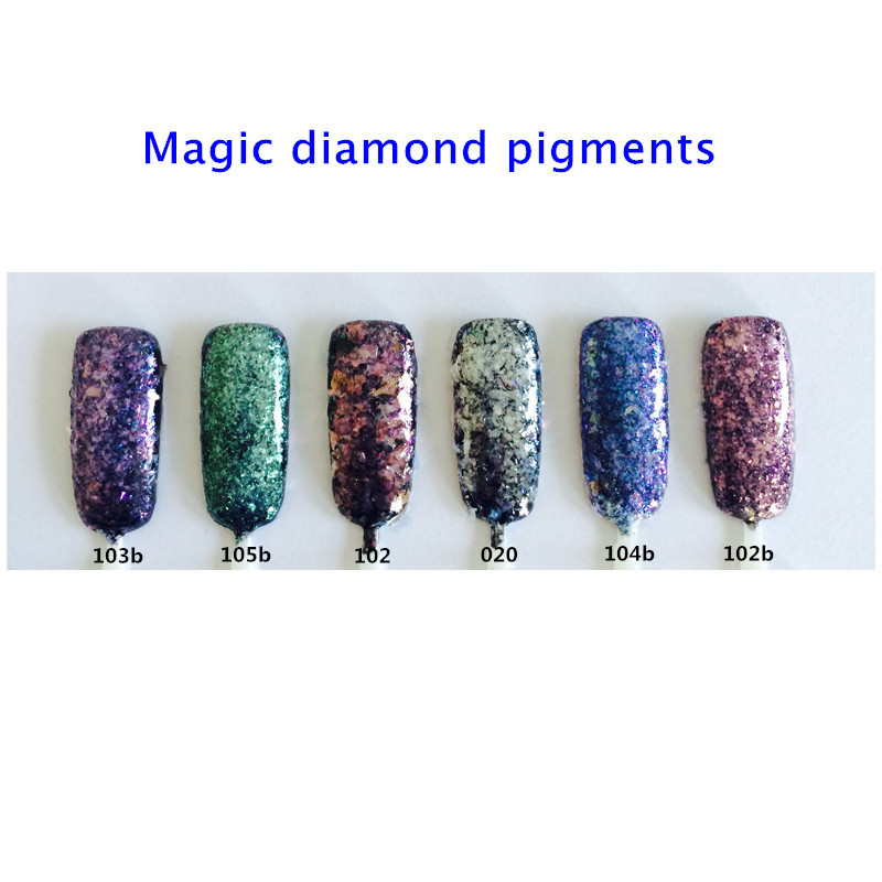 1g High Grade Chameleon Flakes Magic Effect Flakes Multi Chrome Nail Powder Glitter Sequins Gel Nail Polish Nail Art Manicure