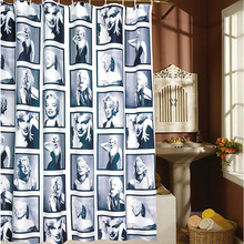 Miss Marilyn Monroe Home Shower Curtain Waterproof Fabric Bath Curtain with 12 Hooks 180*180 curtains for bath A2(China)