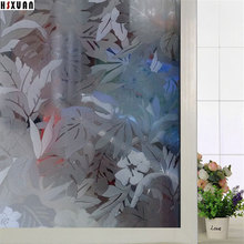 static cling Window insulation Film 50x100cm flower patterns frosted living room decorative window stickers Hsxuan brand 500821(China)
