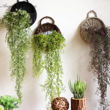 Artificial Admiralty willow 1pcs 78cm simulation plant 5 colors DIY wall hanging vine wedding decoration for home hotel decor(China)