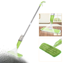 350ML Multifunction Spray Mop Microfiber Cloth Hand Wash Plate Mop Home Floor Windows Kitchen Cleaning Mop Tool sweeper broom(China)
