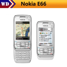Unlocked Nokia E66 Cell Phone 3G WIFI Bluetooth 3.2MP Camera cheap nokia E66 Slider Mobile Phone(China)
