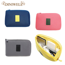 DINIWELL Travel Storage Bag Mesh Cloth For Digital Gadget Cable USB Cable Earphone Pen Cosmetic Bags Organizer Shockproof