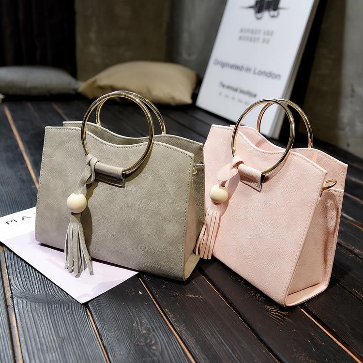 2017 new handbag bag and Korean Xiekua package ring retro Wooden Bead Tassel Handbag Bag<br><br>Aliexpress