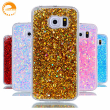 for Samsung S6 case Samsung Galaxy S6 Edge case cover soft back protection S6edge capas coque bling glitter candy color s6 cover(China)