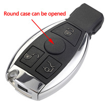 3 Buttons Remote Auto Car Key Shell Mercedes Benz year 2000+ NEC&BGA Control 433MHz Key Replacement Without Logo D20