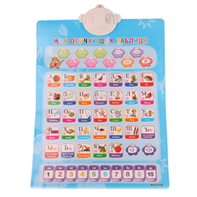 Electronic Baby Alphabet Russian English 2 In 1 Learning Machine Music Toy Educational Phonetic Chart Early Language Sound Toy