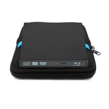 USB 2.0 Bluray External CD/DVD ROM BD-ROM Optical Drive Combo Blu-ray Player Burner Writer Recorder for Laptop Comput +Drive bag