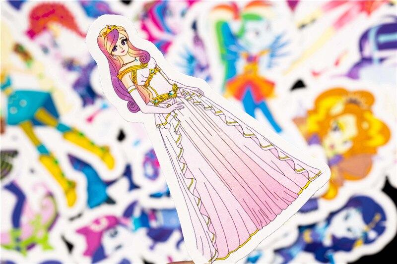 31PCS Little Pony Sticker Cute Cartoon Sticker Set For DIY Travel Case Bicycle Fridge Laptop Kid Toy Anime Stickers (8)
