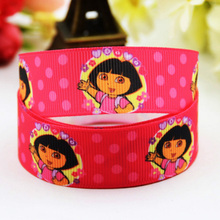 7/8'' (22mm) Dora Cartoon Character printed Grosgrain Ribbon party decoration ribbons OEM X-00810 10 Yards