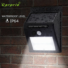 LED Solar Power PIR Motion Sensor Wall Light 8 LED Outdoor Waterproof Energy Saving Street Yard Path Home Garden Security Lamp