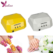 Suelina Nail Dryer&FREE SHIPPING Sensor 36W Dryer Gel Rapid Drying Nail Diamond Shaped CCFL Curing for UV Gel Polish Nail Art