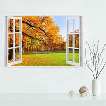 Y530L8 Custom Autumn leaves country road nature tree Canvas Painting Wall Silk Poster cloth print DIY Fabric Poster F#5