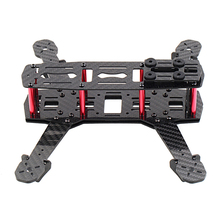 Wholesale!250mm Mini Multicopter Quadcopter Racing Drone Glassy Carbon Frame Kit FPV QAV(China)